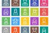 60 Avatars Line Multicolor B/G Icons example image 3