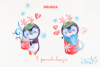 Christmas Penguins watercolor CLIPARTS, DIGITAL PAPERS example image 3