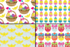 Bright Easter Digital Paper / Happy Easter chick and eggs backgrounds / Easter pattern / Scrapbooking paper example image 3
