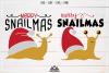 Snail Merry SnailMas Svg Design example image 1