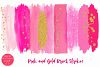 Pink and Gold Brush Strokes Clipart-Brush Strokes Clipart example image 2