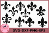 Fleur De Lis Grunge Svg, Fleur De Lis Svg, Fleur De Lis example image 1