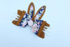 Hair bow - Faux leather diy project Bunny ear hair bows - example image 3