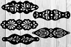 5 Leather Cuff Bracelet svg Jewelry template example image 2