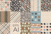 Neutral Hand Drawn Patterns Bundle example image 2