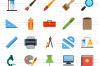 150 Office & Stationery Flat Icons example image 2