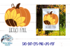 Hello Fall SVG | Sunflower Pumpkin SVG | Fall SVG Cut File example image 1