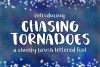 Chasing Tornadoes Font - Chunky Brush Lettered Font example image 1
