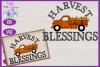 Harvest Blessings SVG | Pumpkin Truck SVG | Farm Truck SVG example image 1