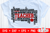 Teacher Word Art | Cut File example image 1