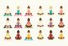 Yoga Girls Clip Art Set example image 3