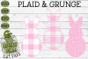 Plaid & Grunge Spring Easter Bunny 1 SVG Cut File example image 1