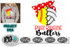 Busy Raising Ballers - Volleyball Softball Cut File example image 1