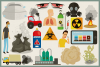 Air Pollution Vector Clipart and Seamless Pattern example image 2