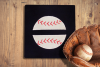 Baseball or Softball Split Applique Embroidery Design example image 1