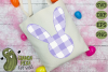 Plaid & Grunge Spring Easter Bunny 2 SVG Cut File example image 3