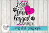 Love is a Four Legged Word Dog Lover SVG Cutting Files example image 1