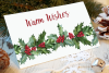 Watercolor Holly Clip Art Set example image 5