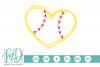 Softball Heart SVG, DXF, AI, EPS, PNG, JPEG example image 1