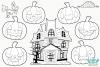 Jack O' Lanterns Digital Stamps example image 2