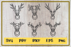 Deer svg,kind of Horns Ilustration, clip art, cut file example image 2