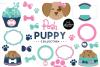 Posh Puppy Clipart Graphics & Digital Paper Patterns Bundle example image 1