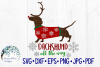 Dachshund All The Way, Christmas, Winter SVG Cut File example image 1