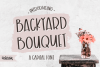 Backyard Bouquet, a capital font example image 1