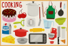 85 Baking and Cooking Vector Clipart & Seamless Patterns example image 3