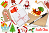 Santa Claus Watercolor Clipart, Instant Download Vector Art example image 4