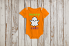 Scary Cute Ghost Halloween SVG File Cutting Template example image 1