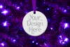 Round Christmas Ornament Mockup, Bauble Mock- Up, JPG example image 8
