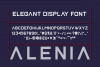 Alenia Display Font example image 2