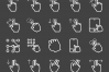50 Touch Gestures Line Inverted Icons example image 2