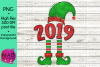 Christmas Elf - Year 2019 - Hat and Shoes Socks example image 1