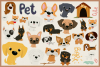 80 Cute Dog Vector Clipart & Seamless Patterns example image 3