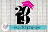 2019 Hat Senior Graduation Cap SVG Cutting Files example image 1