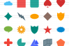 50 Shapes & Geometry Flat Multicolor Icons example image 2