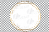 Elegant wedding geometric golden frames, lineal frames svg example image 18