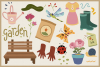 Spring Season Vector Clipart & Seamless Patterns example image 4