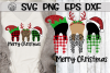 Merry Christmas - Teeth - Plaid - SVG PNG DXF EPS example image 1