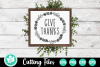 Give Thanks Wreath - A Fall SVG Cut File example image 1