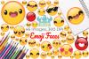 Emoji Faces Clipart, Instant Download Vector Art example image 1