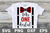 Mr ONE derful - A Birthday SVG Cut File example image 1