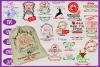 Santa Christmas Gift Bags SVG Bundle - Santa Bag Designs example image 1