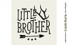 LITTLE BROTHER cutfile design withantlers and arrow SVG DXF example image 3