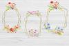 20 Geometric Framesw With Field Flowers, Poppy Wedding Frame example image 3