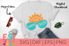 Beach SVG | I Was Made For Sunny Days| SVG, DXF, EPS & PNG example image 1