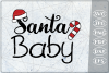 Santa Baby SVG Quote SVG Merry Christmas Print Cricut PNG example image 1
