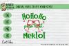 BUNDLE Joy to the wine, Merlot Christmas, WIne Xmas - SVG example image 5